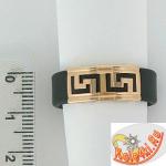 Кольцо из каучука с золотом