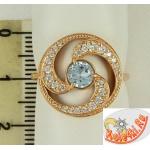 Позолоченое кольцо с топазом