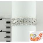 """Серебряное кольцо """"Спаси и Сохрани"""" с фианитами"""