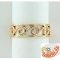 Золотое кольцо для ног
