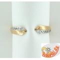 Золотое кольцо для ног с фианитами