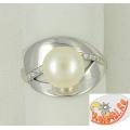 Кольцо с жемчугом, серебро
