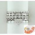 Серебряные кольца, 5 шт.