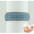 Серебряное кольцо с нанокристаллами