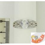 Серебряное кольцо с горным хрусталем и фианитами