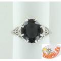 Серебряное кольцо с горным хрусталем