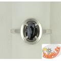 Кольцо из серебра с обсидианом