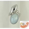 Кольцо из серебра с аквамарином