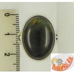 Кольцо из серебра с соколиным глазом