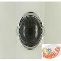 Кольцо из серебра с хризоколлой
