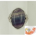 Серебряное кольцо с флюоритом