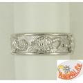 Серебряное мужское кольцо со скорпионами