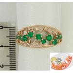 Серебряное кольцо с агатами и фианитами