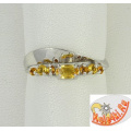 Серебряное кольцо с цитринами