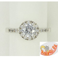 Серебряное кольцо с цирконами