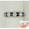 Серебряное кольцо со шпинелью и цирконами