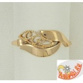 Кольцо со сканью из золота