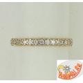 Кольцо из золота с дорожкой фианитов