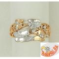 Позолоченное кольцо с бабочками