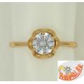 Кольцо с кристаллом Сваровски из золота