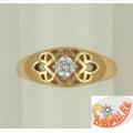 Кольцо из золота с кристаллом Сваровски