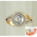 Золотое кольцо с алмазанитом