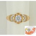 Кольцо из золота с кристаллами Сваровски