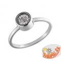 Маленькое кольцо из белого золота