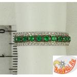 Кольцо из серебра с зеленым кварцем