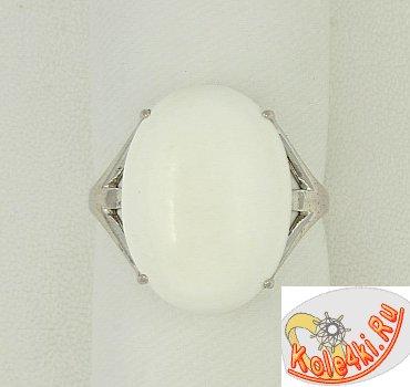 Кольцо из серебра с кахолонгом