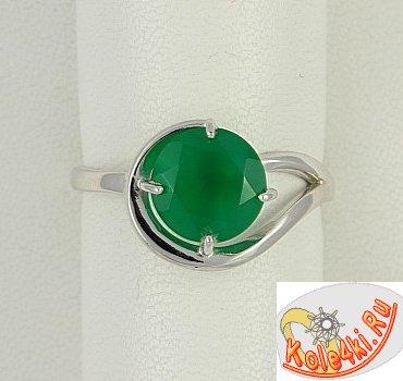 Серебряное кольцо с агатом