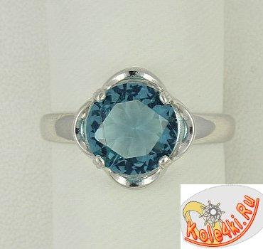 Серебряное кольцо с фианитом Лондон