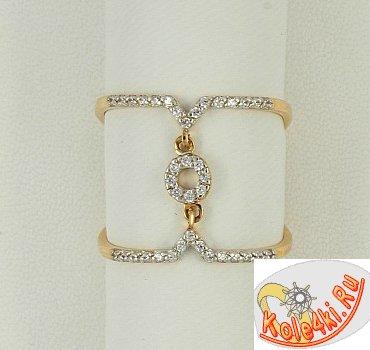 Стильное кольцо из золота